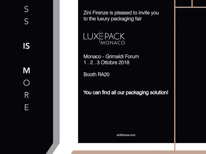 NEWSLETTER Welcome Luxepack 2018 ENG